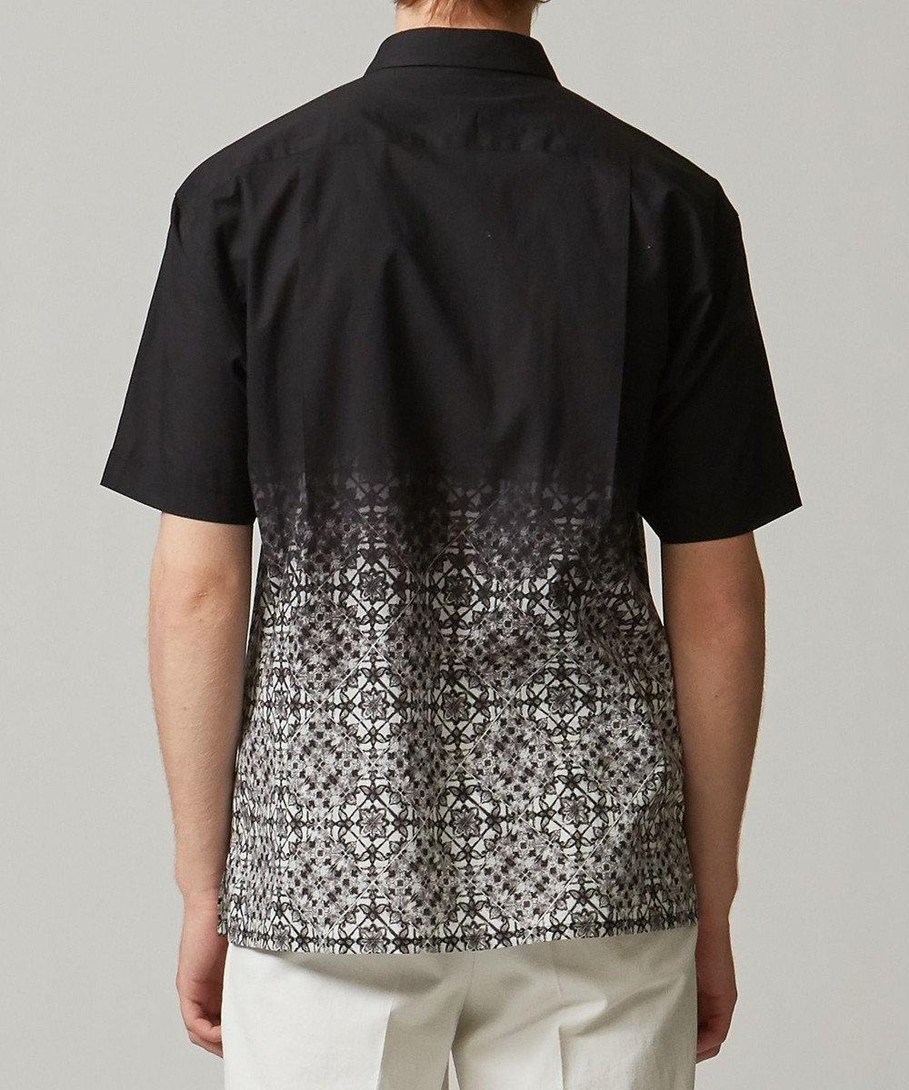 JOSEPH HOMME グラデーションタイル シャツ ブラック系3