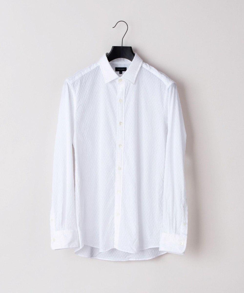 JOSEPH HOMME アロージャガードストレッチ シャツ ホワイト系