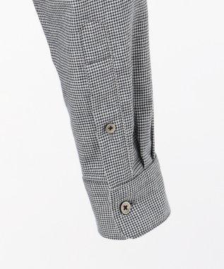 JOSEPH HOMME 【なめらかな肌触り】コットンビエラブロック レギュラーカラー シャツ グレー系3