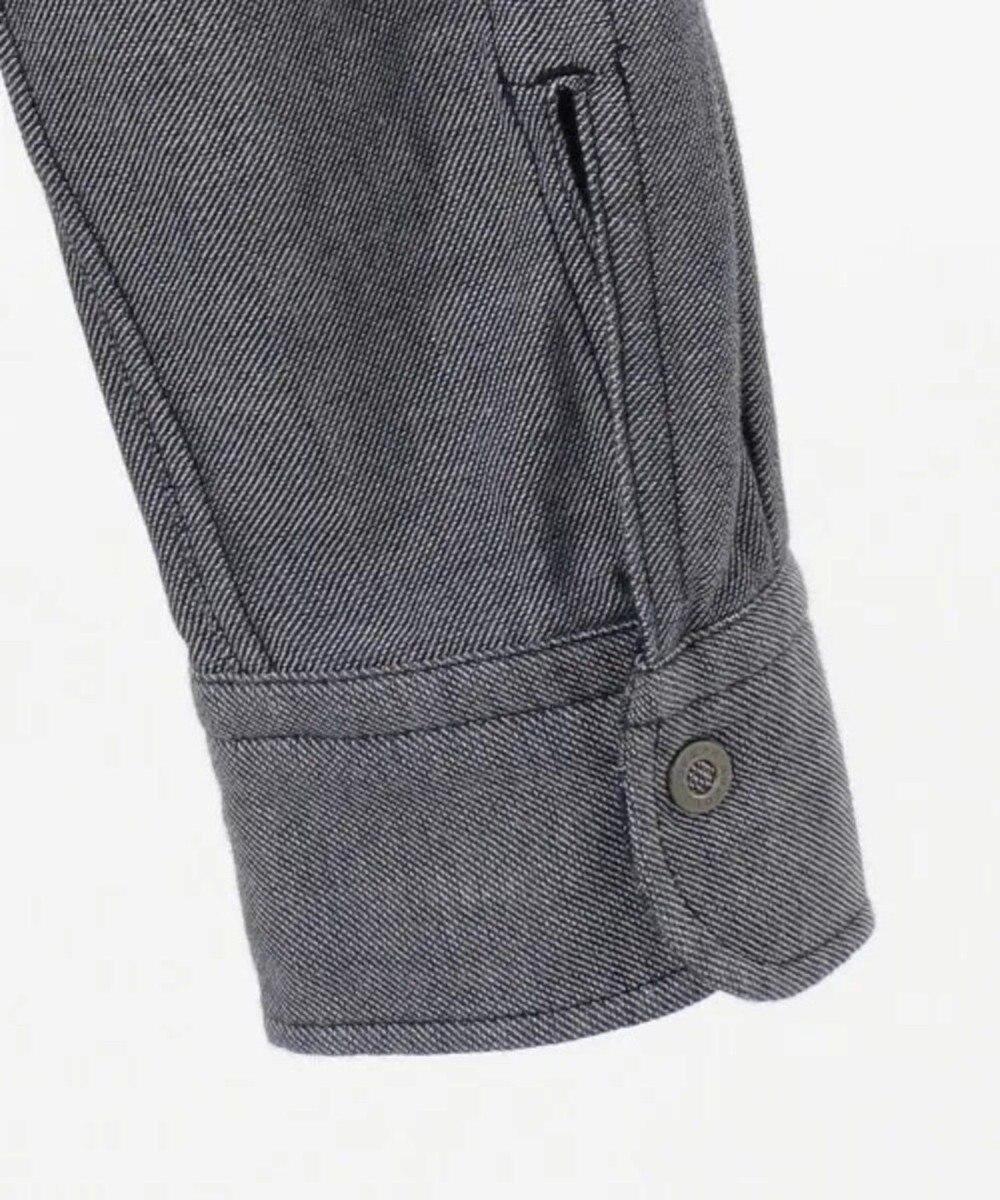 JOSEPH ABBOUD 【キングサイズ・1枚で2スタイリング】リバーシブルストライプ シャツ ネイビー系