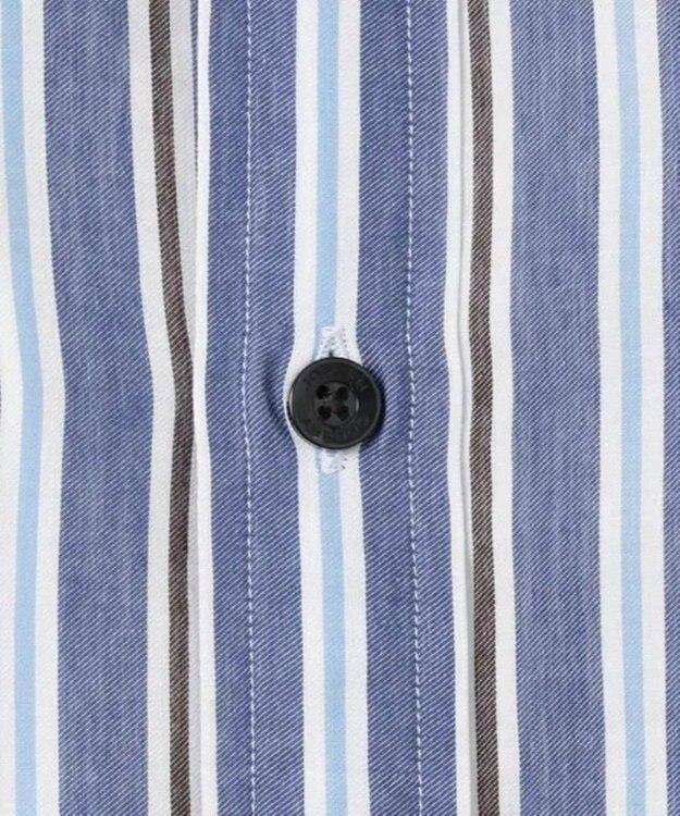 JOSEPH ABBOUD 【キングサイズ・なめらか触感】コットンテンセルストライプ シャツ
