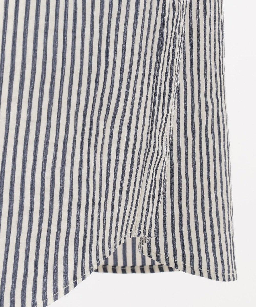 JOSEPH ABBOUD エアクレープストライプ シャツ ブルー系1