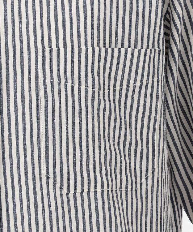 JOSEPH ABBOUD エアクレープストライプ シャツ