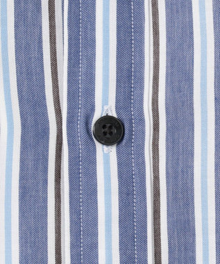 JOSEPH ABBOUD 【なめらか触感】コットンテンセルストライプ シャツ ネイビー系2