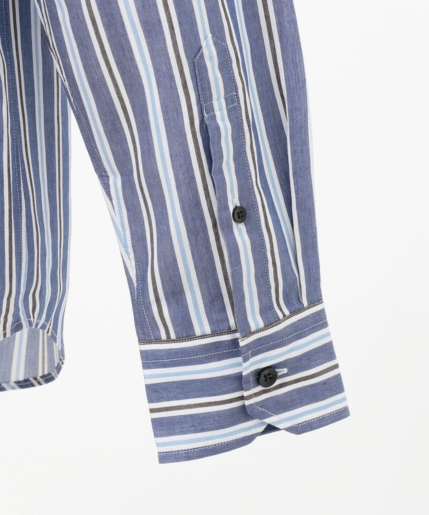 JOSEPH ABBOUD 【なめらか触感】コットンテンセルストライプ シャツ
