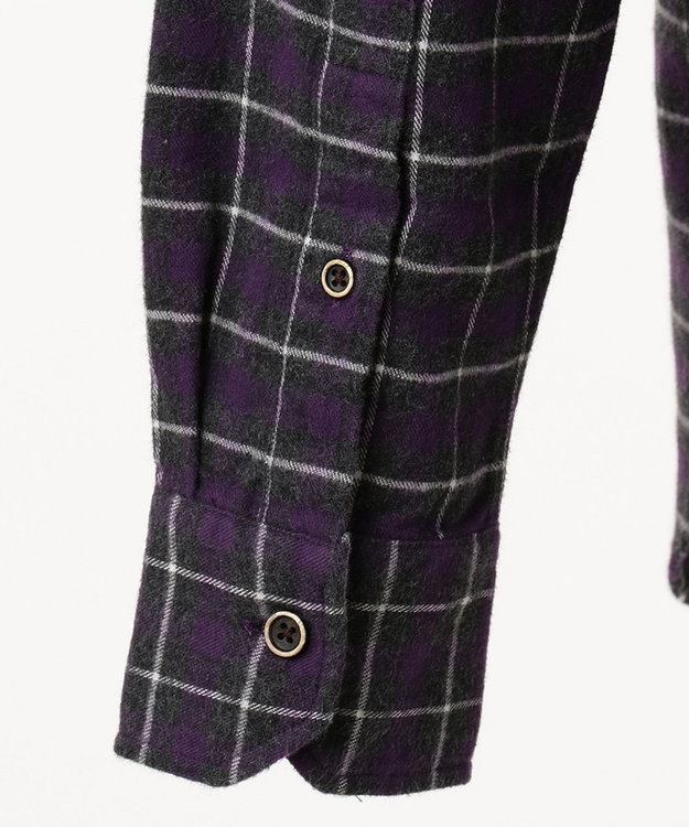 JOSEPH ABBOUD 【キングサイズ・JOE COTTON使用】起毛チェック シャツ