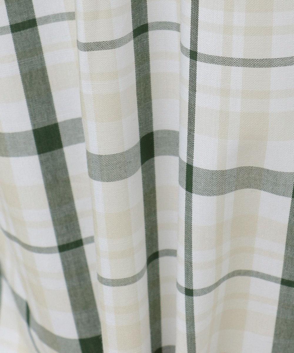 JOSEPH ABBOUD 【キングサイズ・JOE COTTON】スラブチェック シャツ カーキ系3