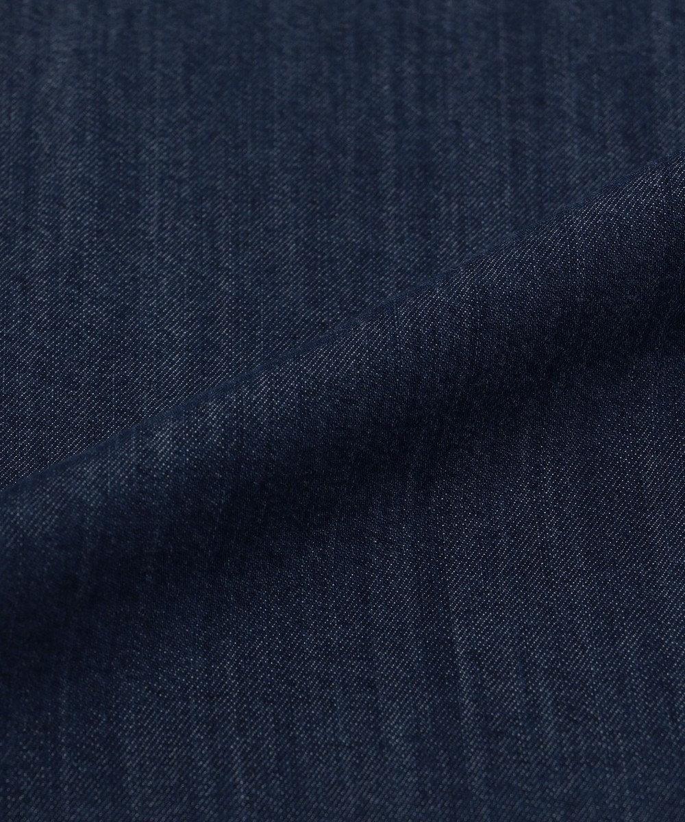 JOSEPH ABBOUD 【キングサイズ】50Zスーピマモダールデニム シャツ ネイビー系
