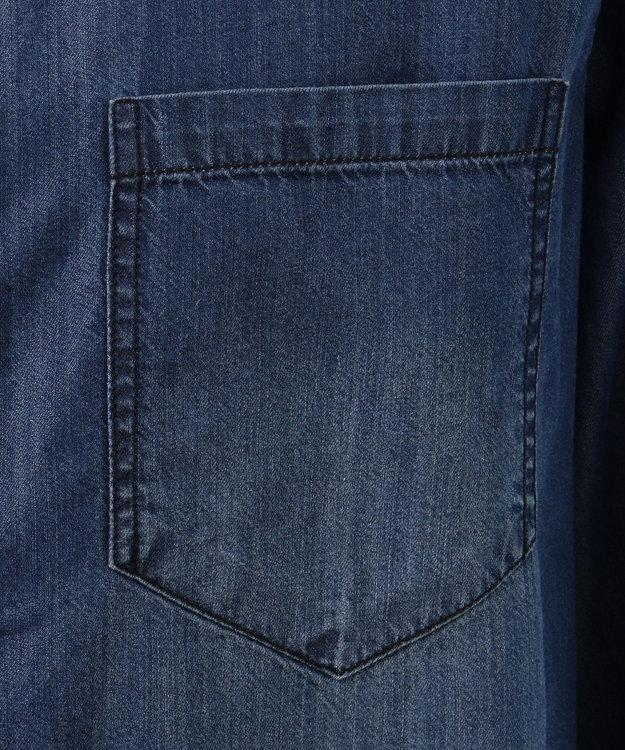 JOSEPH ABBOUD 【キングサイズ】50Zスーピマモダールデニム シャツ