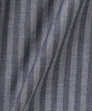 JOSEPH ABBOUD 【洗える】リバーシブルストライプ シャツ ブルー系1