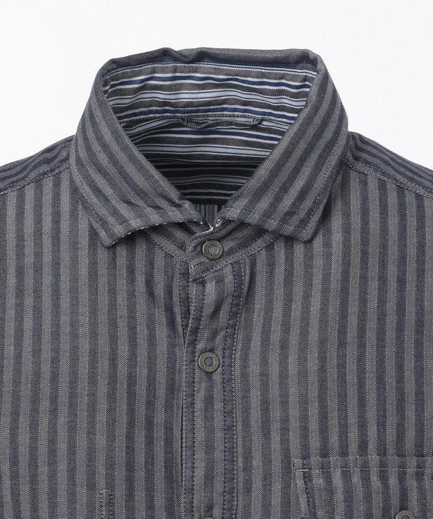 JOSEPH ABBOUD 【洗える】リバーシブルストライプ シャツ