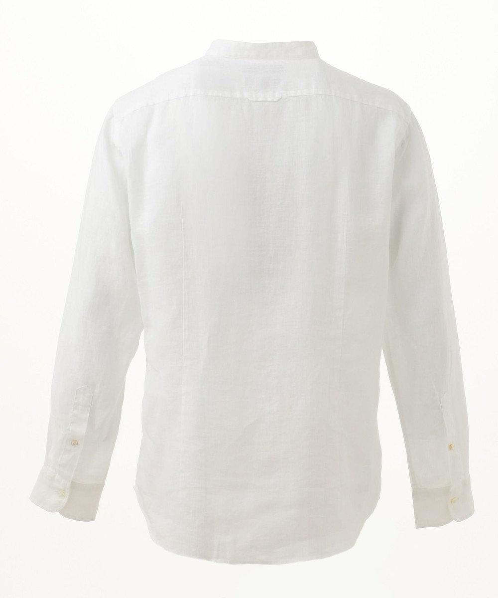 JOSEPH ABBOUD 【COLLECTION】カンクリーニホワイトリネン シャツ ホワイト系