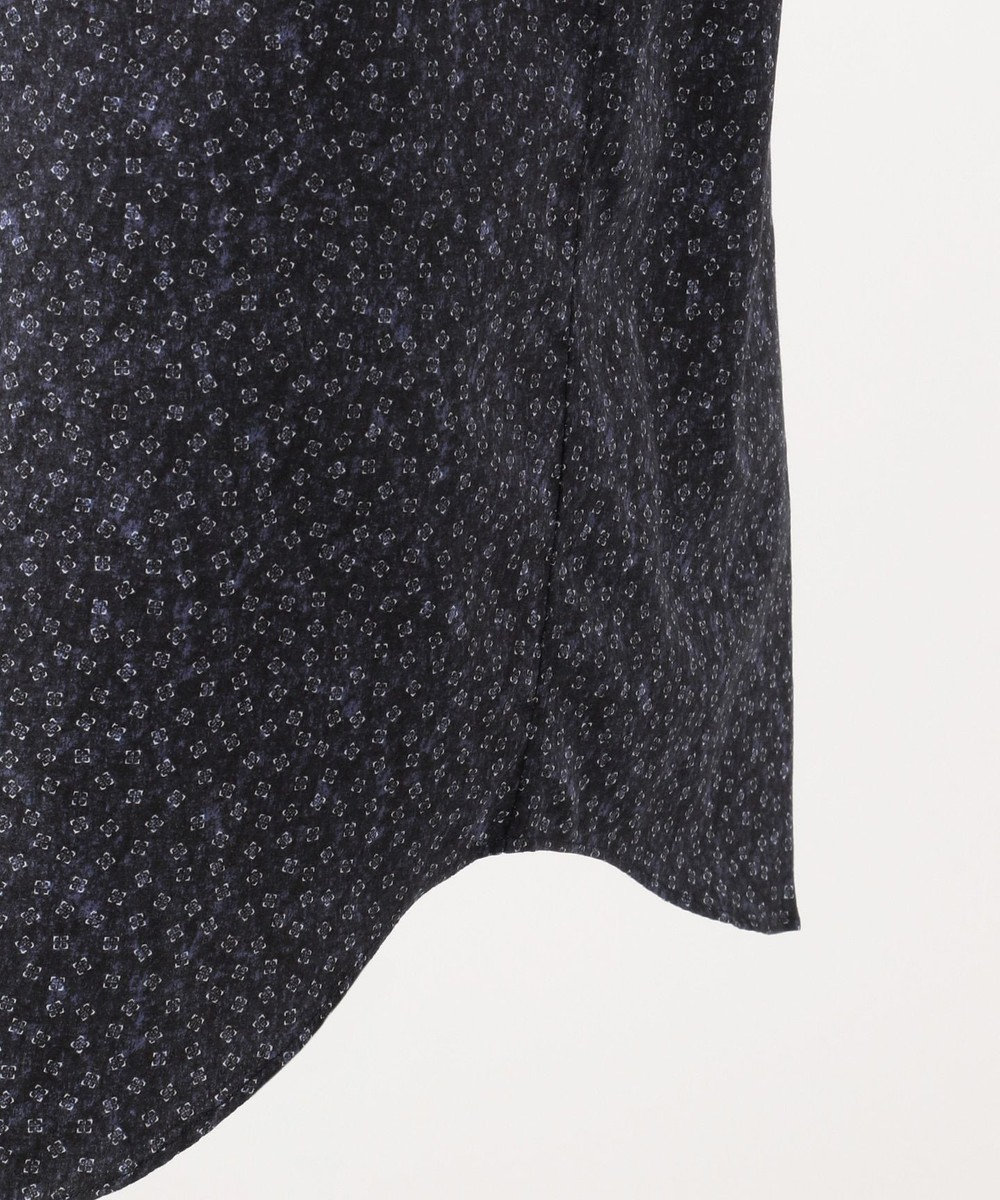 JOSEPH ABBOUD 【洗える】スクエアモチーフプリント シャツ ネイビー系5