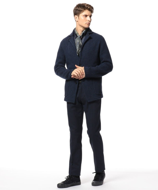 JOSEPH ABBOUD 【洗える】スクエアモチーフプリント シャツ