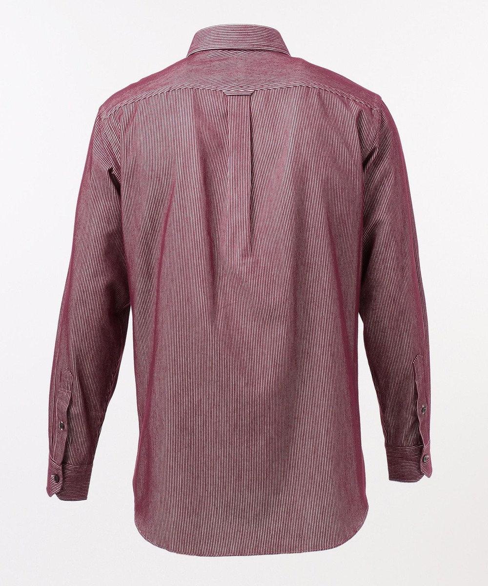 JOSEPH ABBOUD 【JOE COTTON】カラーコードピケストライプ シャツ ワイン系1