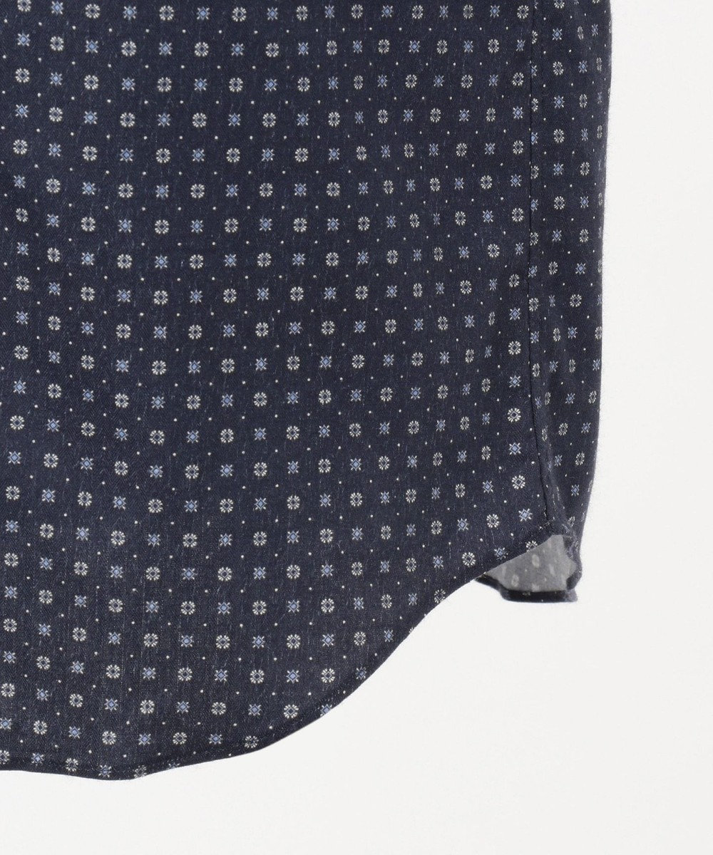 JOSEPH ABBOUD 【JOE COTTON】フランネルプリント シャツ ネイビー系5