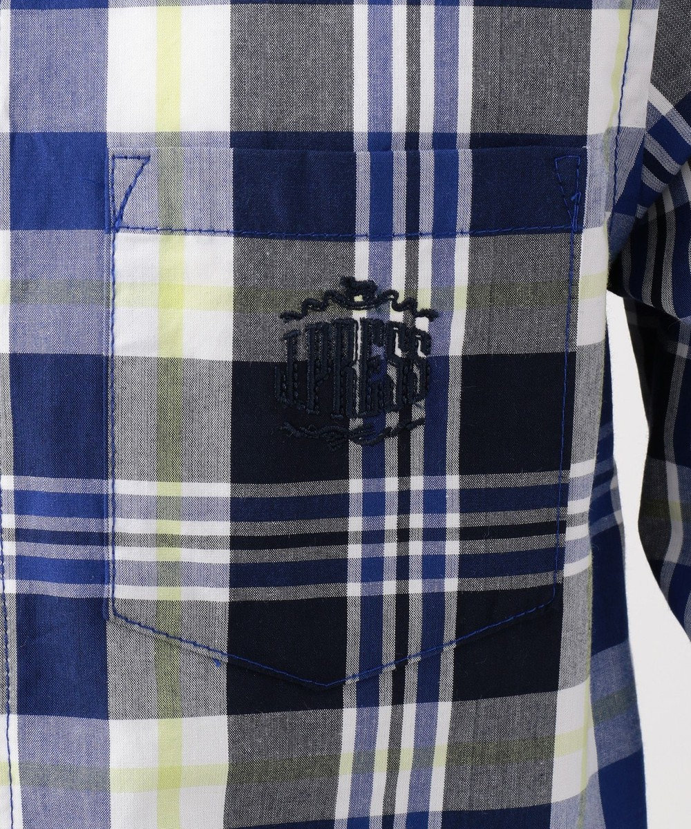 J.PRESS KIDS 【120-130cm】ロープボーダー&ヤーンダイドチェック シャツ グリーン系4