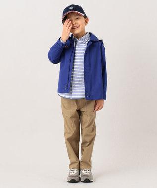 J.PRESS KIDS 【120-130cm】ロープボーダー&ヤーンダイドチェック シャツ ブルー系1