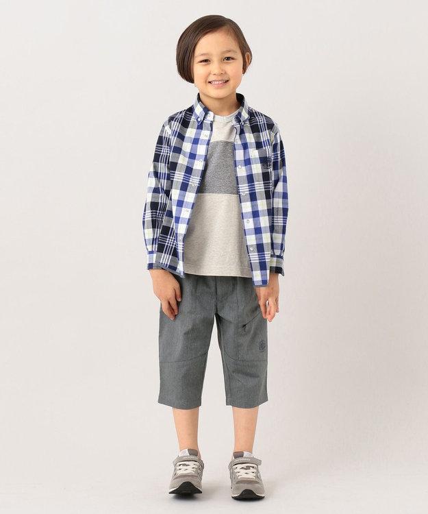 J.PRESS KIDS 【120-130cm】ロープボーダー&ヤーンダイドチェック シャツ