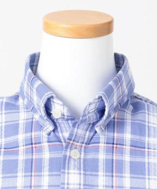 J.PRESS KIDS 【140-170cm】サッカーチェックシャツ ブルー系3
