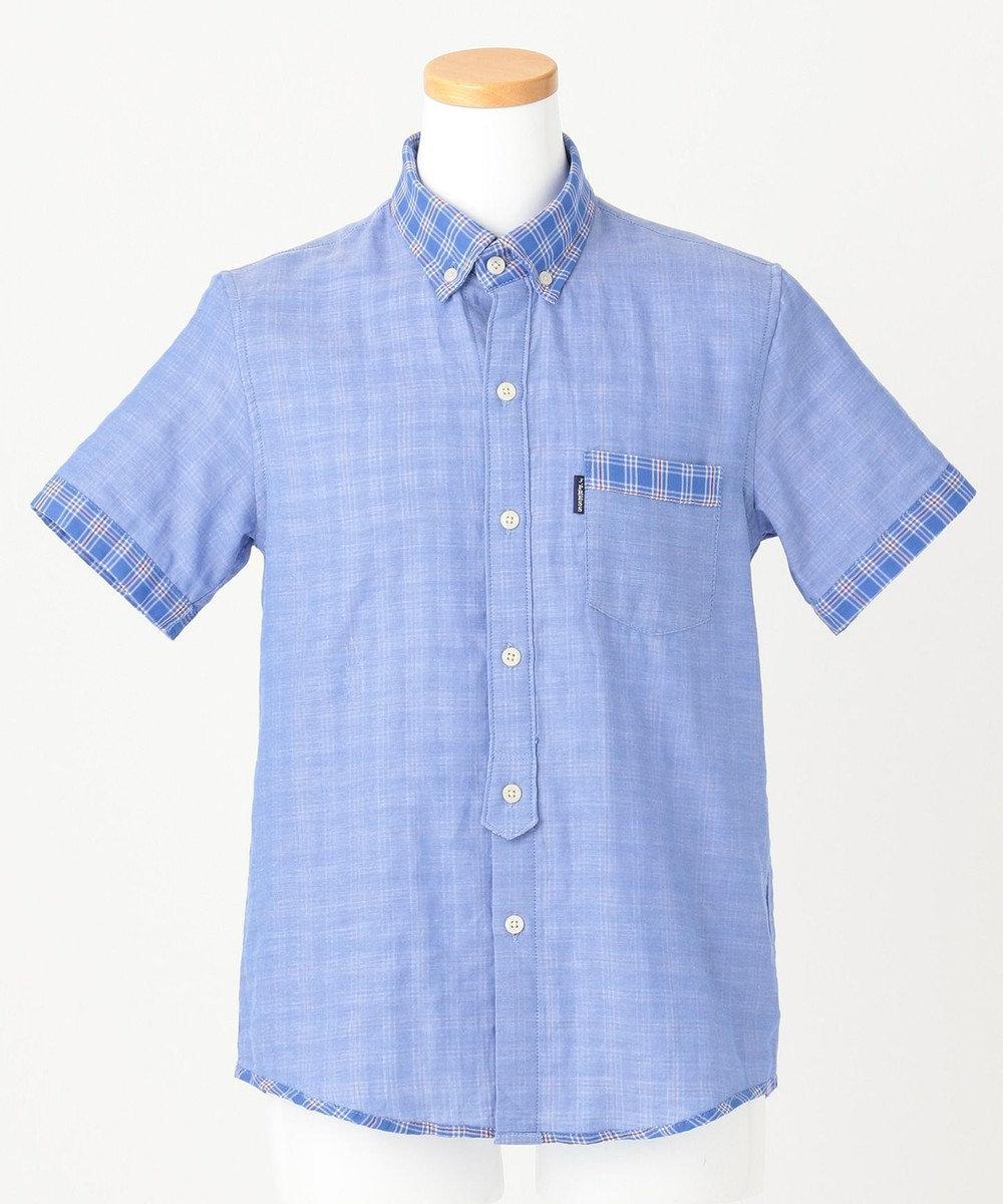 J.PRESS KIDS 【140-170cm】ダブルガーゼチェック シャツ ブルー系3