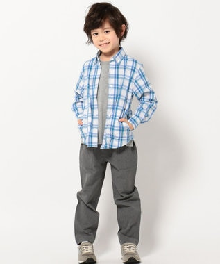 J.PRESS KIDS 【TODDLER】ドットボタン シャツ ブルー系3