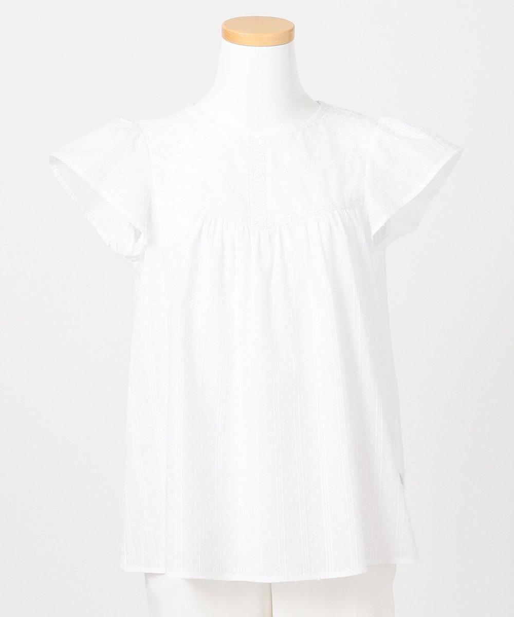 組曲 KIDS 【150-170cm】ナチュラルレースブラウス ホワイト系