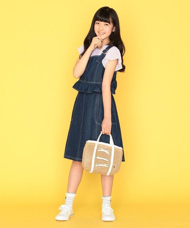 組曲 KIDS 【150-170cm】ナチュラルレースブラウス