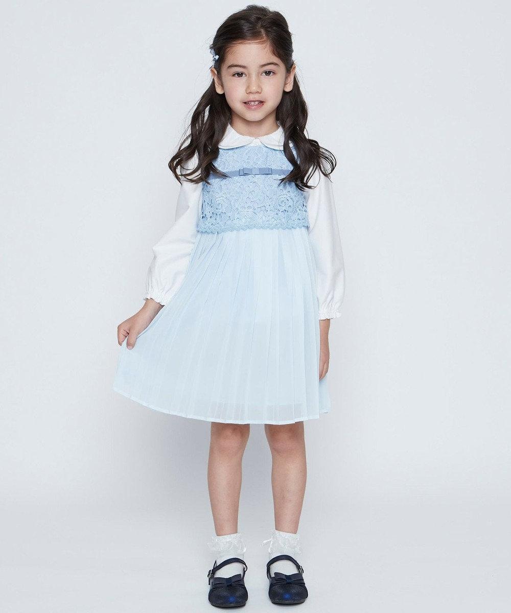組曲 KIDS 【ひなちゃん着用/110-140cm】ダブルカラーブラウス ホワイト系