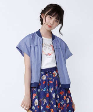 組曲 KIDS 【PURETE】テンセルローンシャンブレー ブルゾン ブルー系