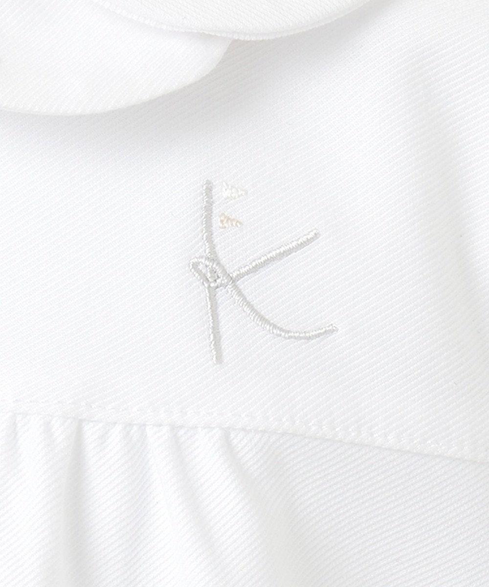 組曲 KIDS 【110-130cm】プチフラワー刺繍 ブラウス ホワイト系