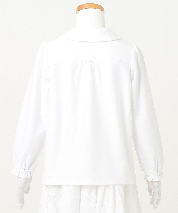 組曲 KIDS 【110-130cm】プチフラワー刺繍 ブラウス