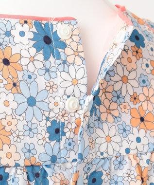 組曲 KIDS 【110~140cm】マリンフラワーブラウス ブルー系5