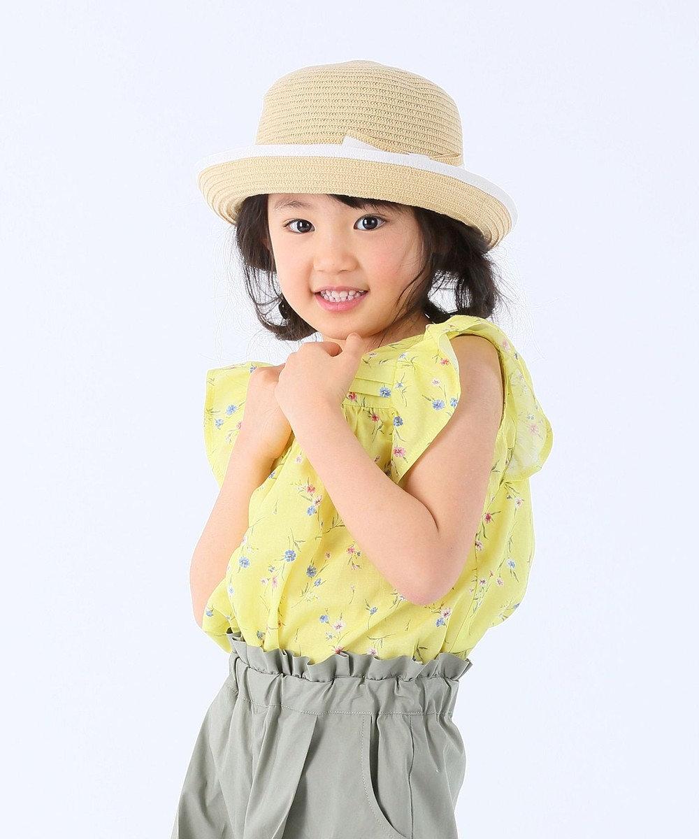 組曲 KIDS 【150~160cm】ヴィンテージフラワープリント ブラウス イエロー系1