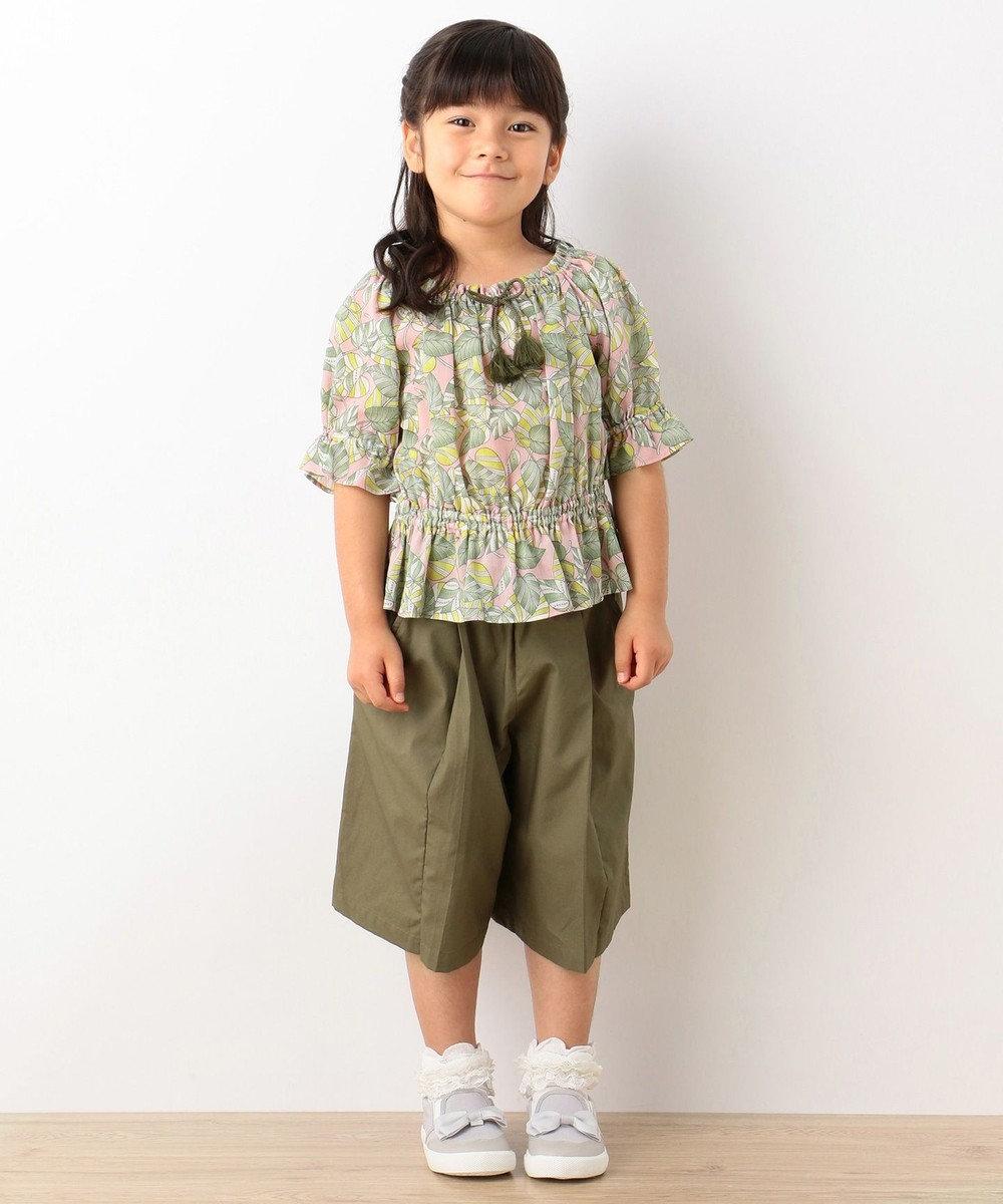 組曲 KIDS 【TODDLER】ジャングルプリントブラウス カーキ系1