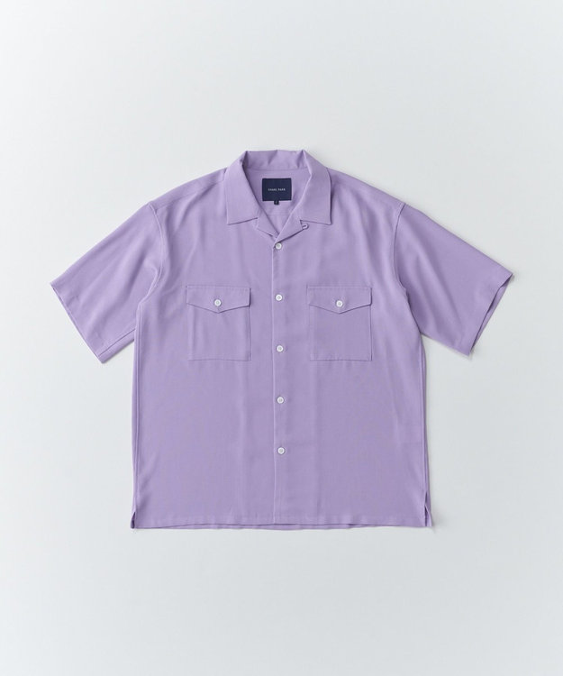 SHARE PARK MENS ダブルポケット半袖オープンカラーシャツ