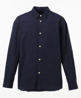 SHARE PARK MENS ガーメントダイレギュラーカラーシャツ ネイビー系
