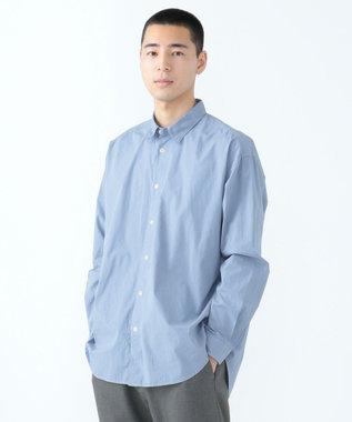 SHARE PARK MENS ガーメントダイレギュラーカラーシャツ サックスブルー系
