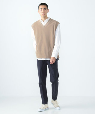 SHARE PARK MENS ガーメントダイレギュラーカラーシャツ ホワイト系