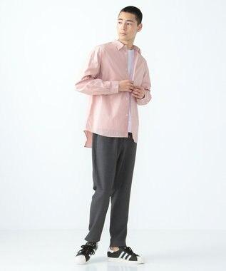 SHARE PARK MENS ガーメントダイレギュラーカラーシャツ ピンク系