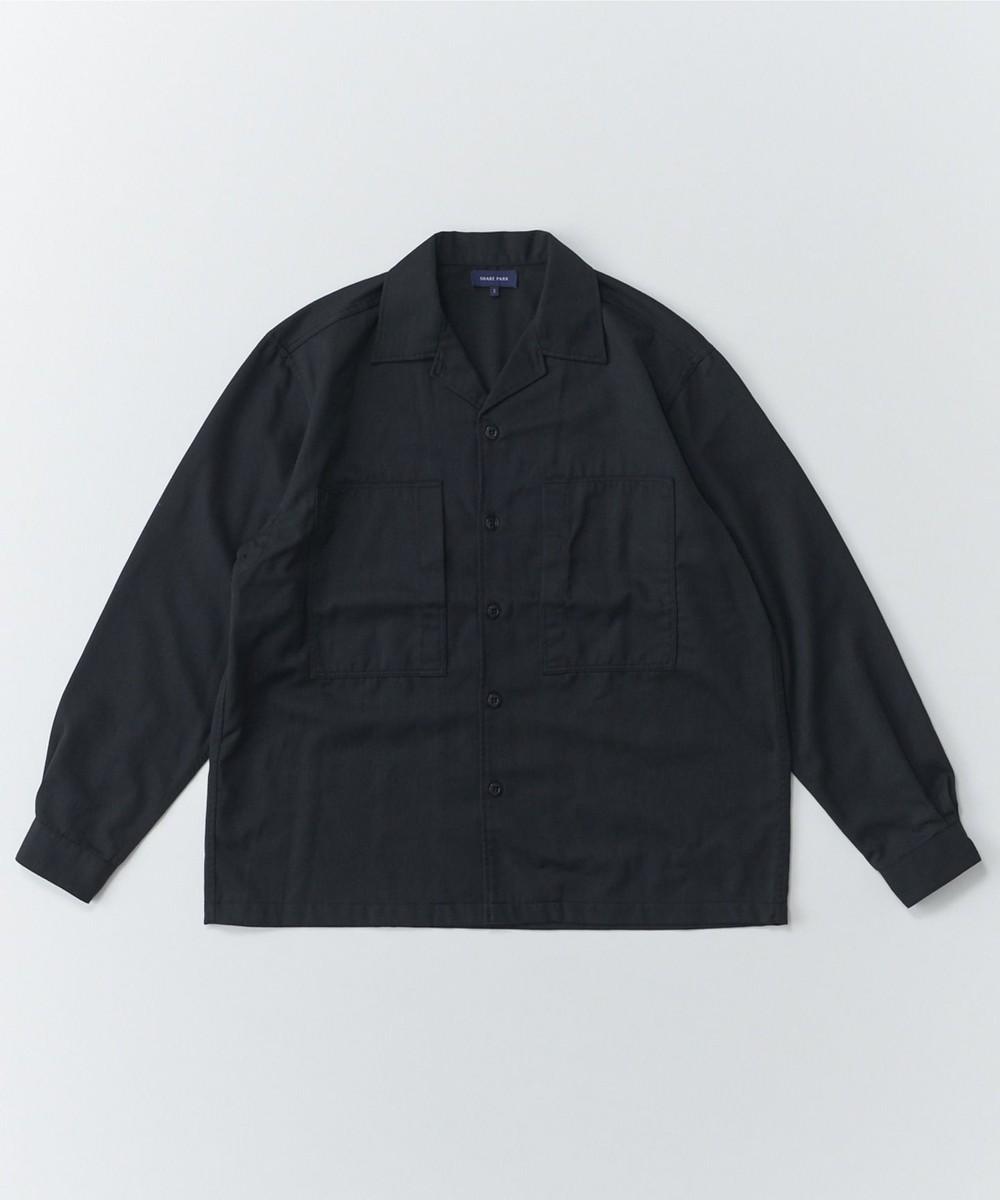 【オンワード】 SHARE PARK MENS>トップス ウールブレンドワークシャツ ブラック 1 メンズ 【送料無料】