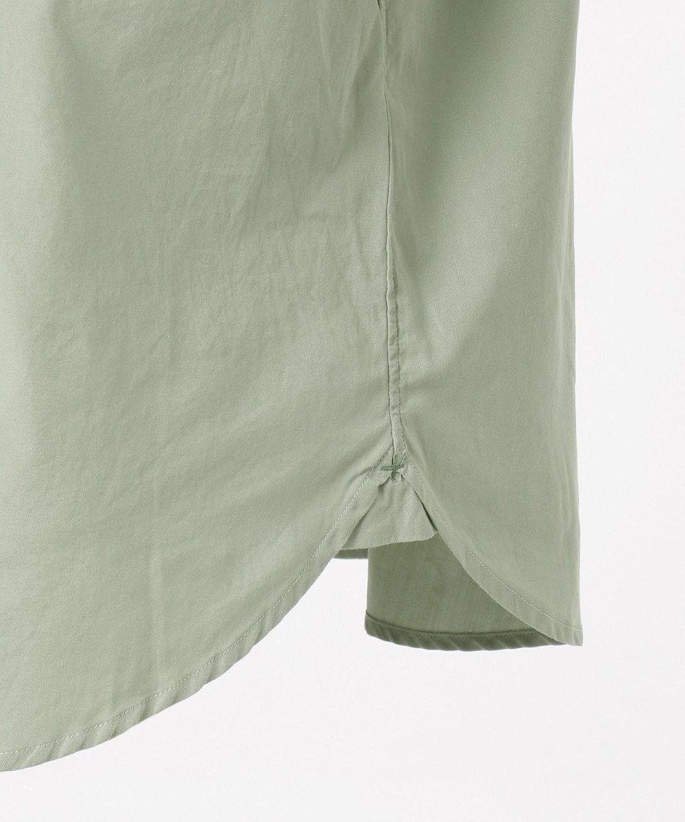 SHARE PARK MENS ヴィンテージウォッシュレギュラーカラーシャツ グリーン系