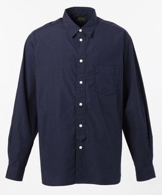 SHARE PARK MENS ヴィンテージウォッシュレギュラーカラーシャツ ネイビー系