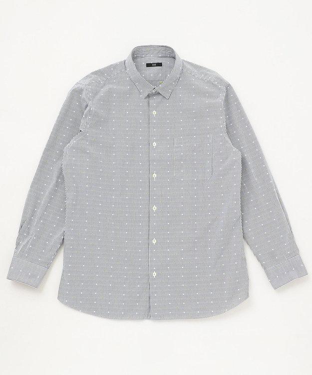 23区HOMME 【キングサイズ】カットドビーストライプ シャツ