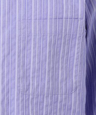 23区HOMME 【キングサイズ】トルファンコットンドビーストライプ サックスブルー系