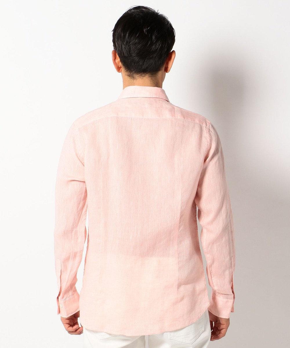 23区HOMME 【洗える】ALBIATEリネシャンブレー シャツ ピンク系