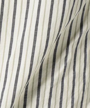 23区HOMME 【洗える】C/ラミーストライプ シャツ ホワイト系1
