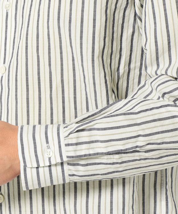 23区HOMME 【洗える】C/ラミーストライプ シャツ