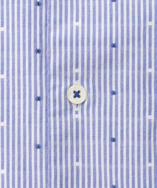 23区HOMME 【洗える】カットドビーストライプ シャツ サックスブルー系1
