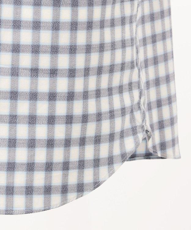 23区HOMME 【洗える】コンパクトメランジチェック シャツ